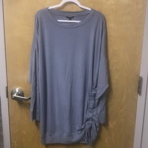 Gray Express rouched-side dress
